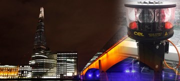 Obelux Aviation Lights Are Marking The Tallest Building In European Union, The Shard In London